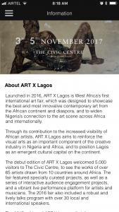 Neukleos designed the ART X Lagos app